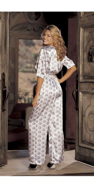 Retro charmeuse marilyn pajama set
