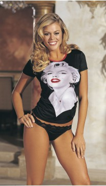 PORTRAIT MARILYN PRINT KNIT 2 PC SET