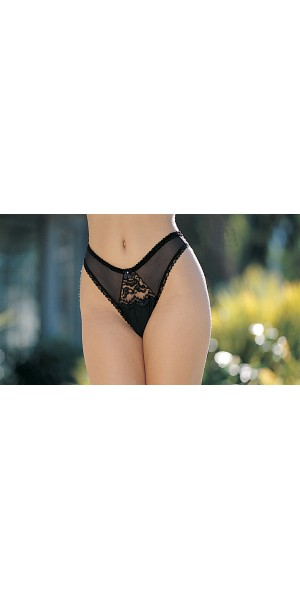 Chopper bar lace thong