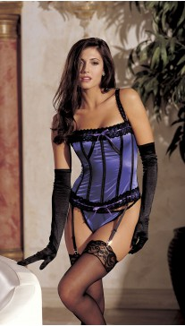 Stretch satin corset