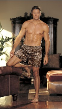ANIMAL PRINT CHARMEUSE BOXER SHORTS